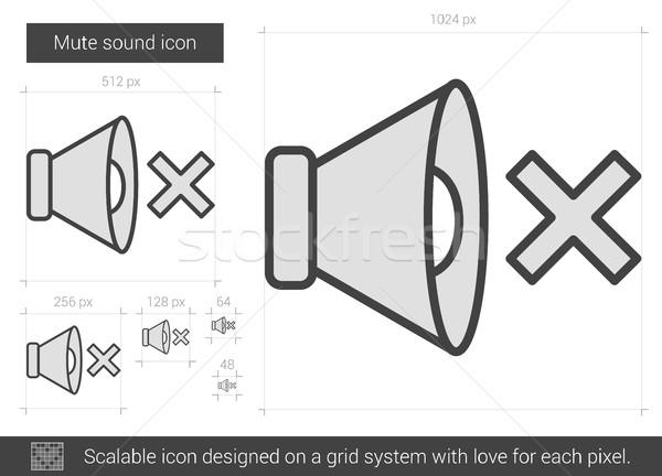 Mute sound line icon. Stock photo © RAStudio