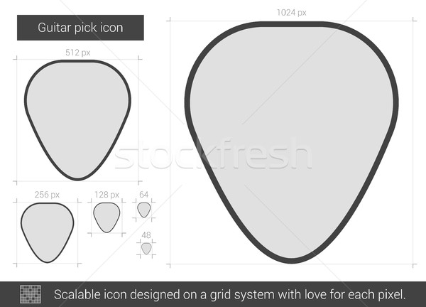 Guitar pick line icon. Stock photo © RAStudio