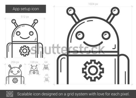 App setup line icon. Stock photo © RAStudio