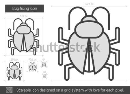 Bug fixing line icon. Stock photo © RAStudio