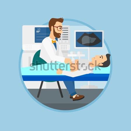 Paziente ultrasuoni medico interno Foto d'archivio © RAStudio