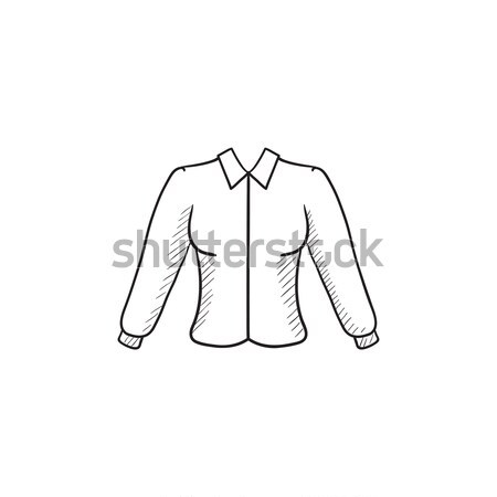 женщины блузка эскиз икона вектора изолированный Сток-фото © RAStudio