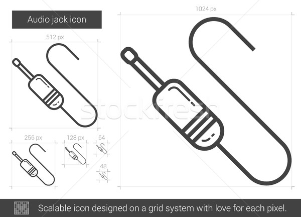 Audio jack line icon. Stock photo © RAStudio