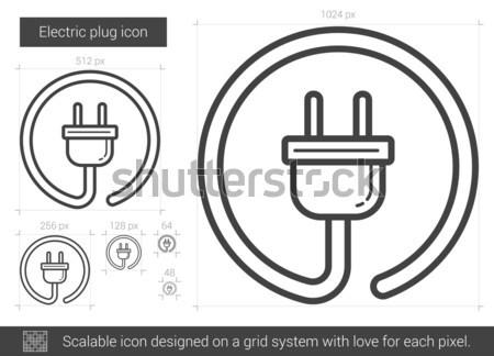 Electric plug line icon. Stock photo © RAStudio
