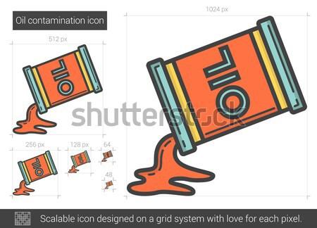 Pétrolières ligne icône vecteur isolé blanche Photo stock © RAStudio