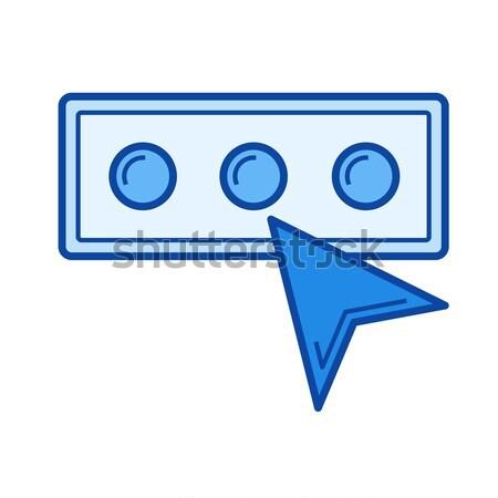 Stock fotó: Belépés · jelszó · vonal · ikon · vektor · izolált
