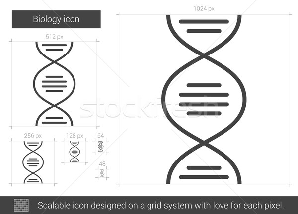 Biology line icon. Stock photo © RAStudio