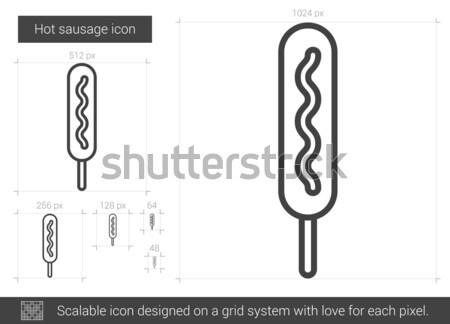 Kebap hat ikon vektör yalıtılmış beyaz Stok fotoğraf © RAStudio
