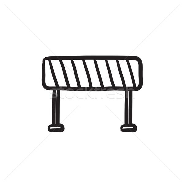 Road barrier sketch icon. Stock photo © RAStudio