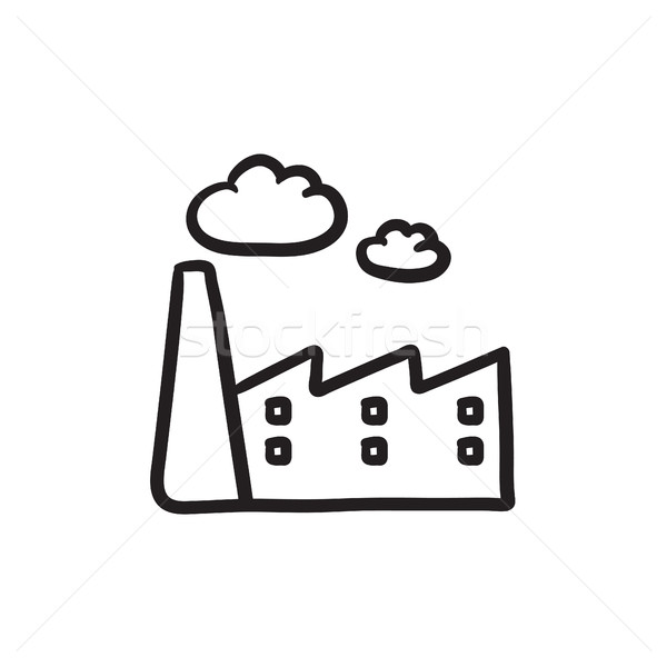 Factory sketch icon. Stock photo © RAStudio