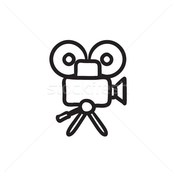 Caméra vidéo croquis icône vecteur isolé dessinés à la main Photo stock © RAStudio