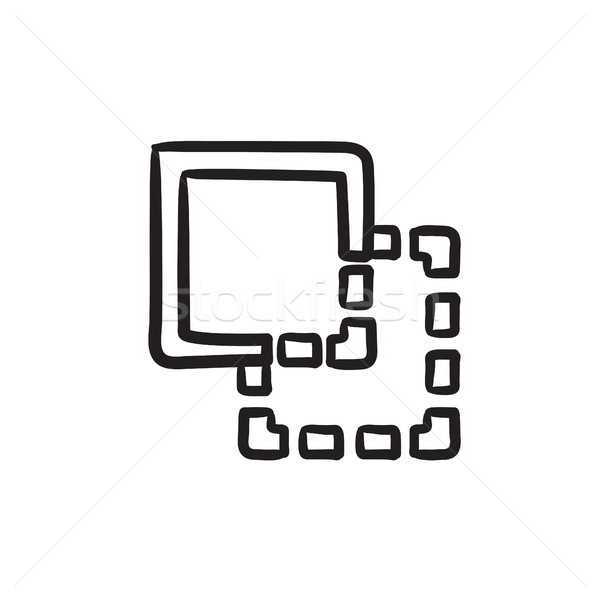 Trim sketch icon. Stock photo © RAStudio