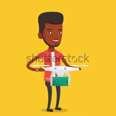 Man following recipe on digital tablet. Stock photo © RAStudio