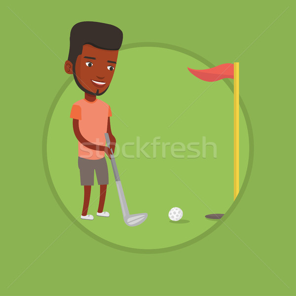 ゴルファー ボール 演奏 ゴルフ 穴 赤 ストックフォト © RAStudio