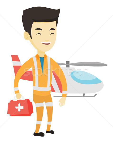 Lekarza powietrza pogotowia stałego ratowania śmigłowca Zdjęcia stock © RAStudio