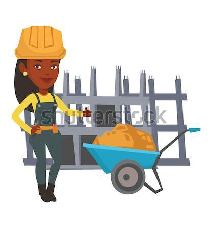 Builder giving thumb up vector illustration. Stock photo © RAStudio