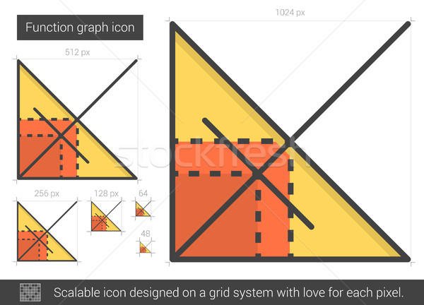 Fonction graphique ligne icône vecteur isolé Photo stock © RAStudio