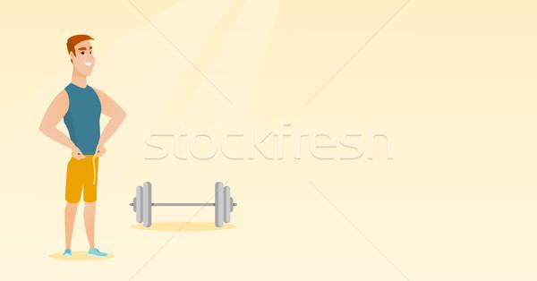 Férfi mér derék kaukázusi csípővonal szalag Stock fotó © RAStudio