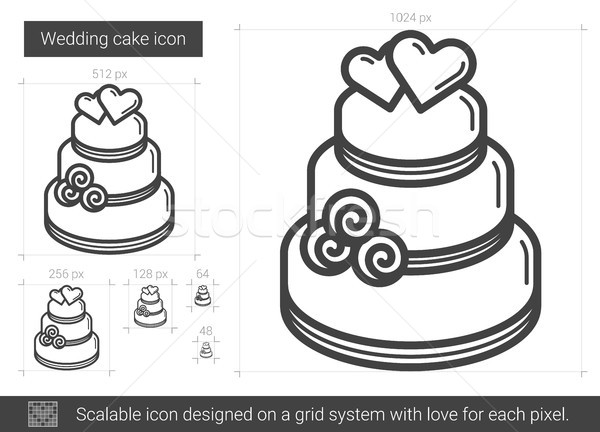 Wedding cake line icon. Stock photo © RAStudio