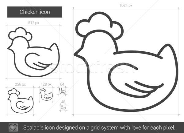 Chicken line icon. Stock photo © RAStudio