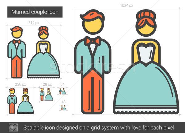 Married couple line icon. Stock photo © RAStudio