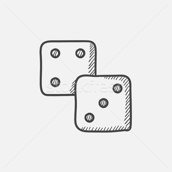 Dice sketch icon. Stock photo © RAStudio