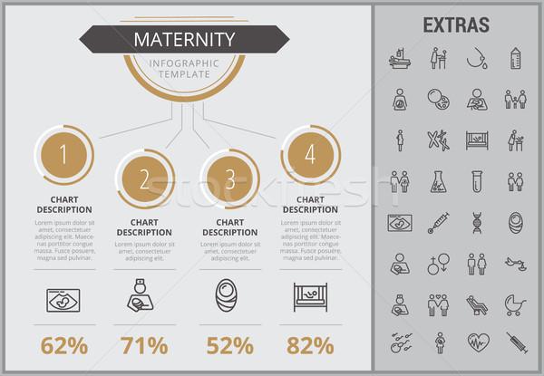 母性 インフォグラフィック テンプレート 要素 アイコン カスタマイズ可能な ストックフォト © RAStudio