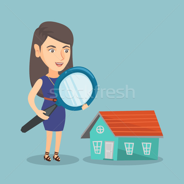 Young caucasian business woman looking for house. Stock photo © RAStudio