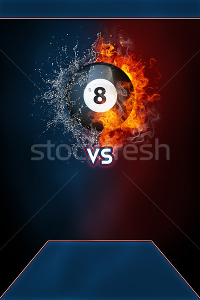 Billiards sports tournament modern poster template. Stock photo © RAStudio