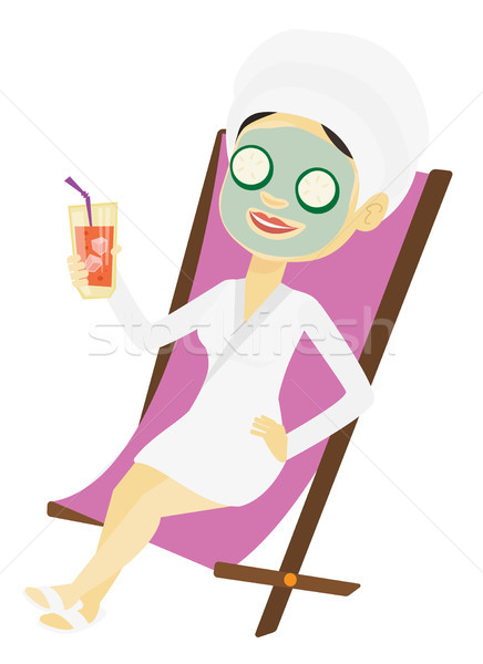 Woman getting beauty treatments in the salon. Stock photo © RAStudio