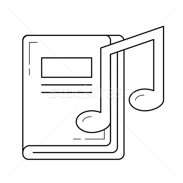Music book line icon. Stock photo © RAStudio