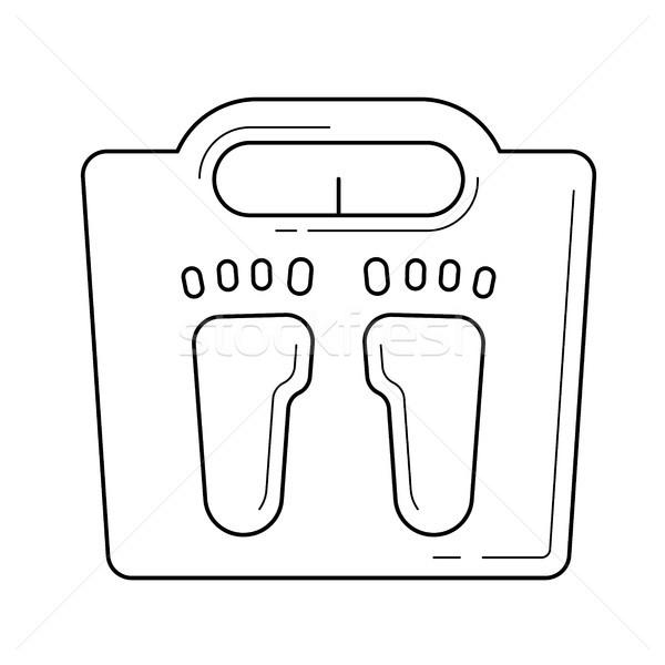 Weight scale line icon. Stock photo © RAStudio