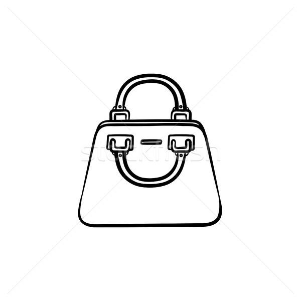 Handbag hand drawn sketch icon. Stock photo © RAStudio