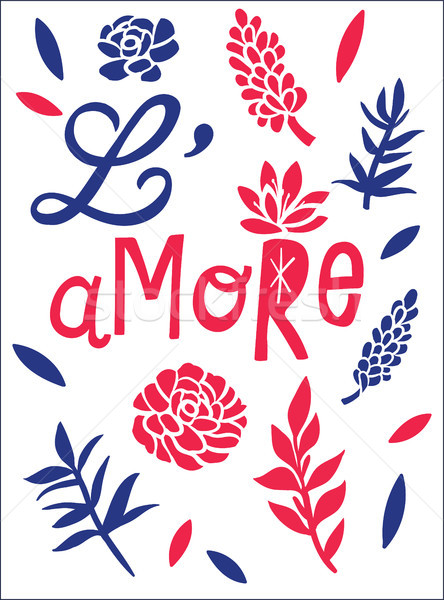 L'amore, love concept t-shirt print and embroidery Stock photo © RAStudio