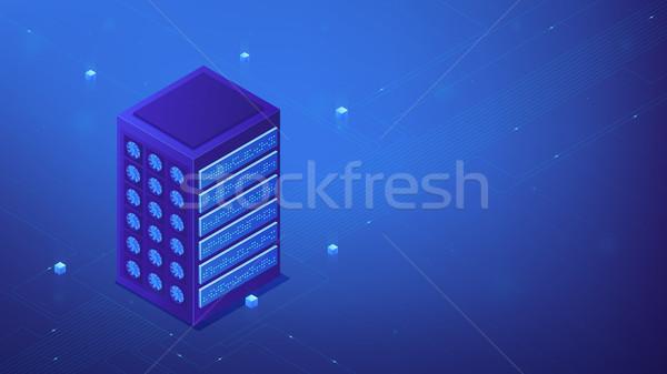 Isometric server farm concept. Stock photo © RAStudio