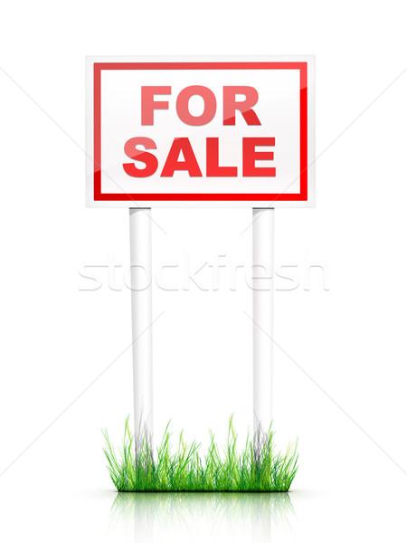 Assinar venda imóveis casa casa vermelho Foto stock © RAStudio