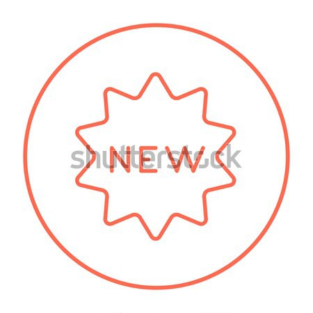 New tag thin line icon Stock photo © RAStudio