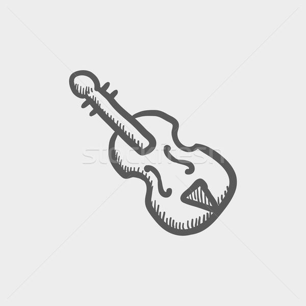 Cello sketch icon Stock photo © RAStudio