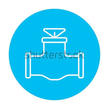 Gas pipe valve icon drawn in chalk. Stock photo © RAStudio