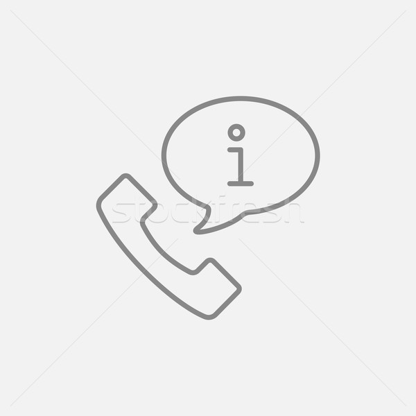 Customer service line icon. Stock photo © RAStudio