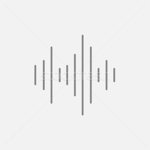 Ecualizador línea icono web móviles infografía Foto stock © RAStudio