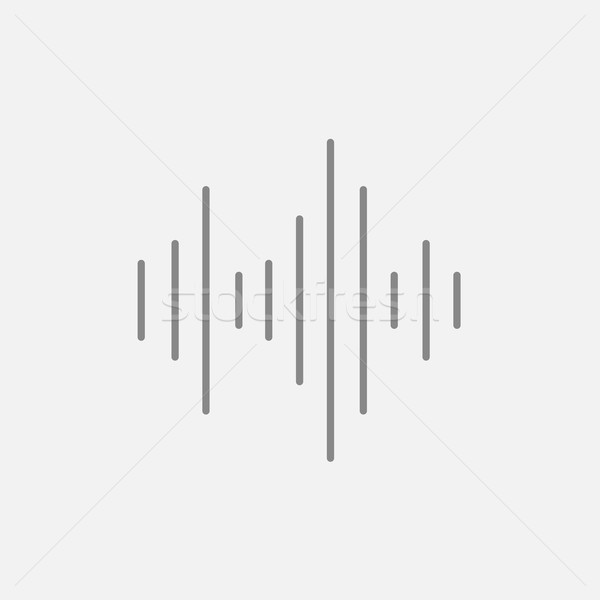 Ekolayzer hat ikon web hareketli infographics Stok fotoğraf © RAStudio