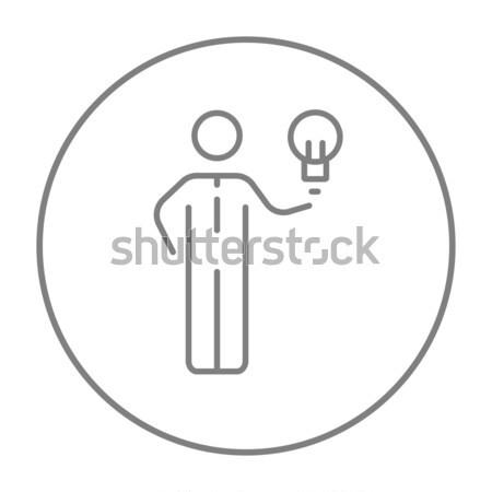 Stock photo: Business idea line icon.