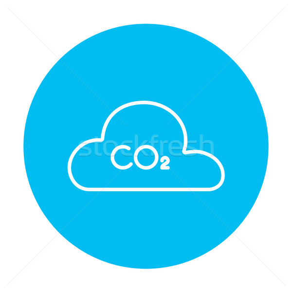 CO2 sign in cloud line icon. Stock photo © RAStudio