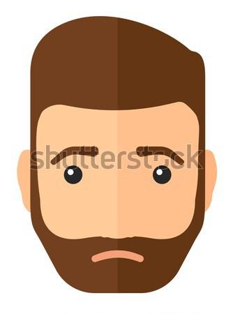 Jovem deprimido homem barba vetor projeto Foto stock © RAStudio