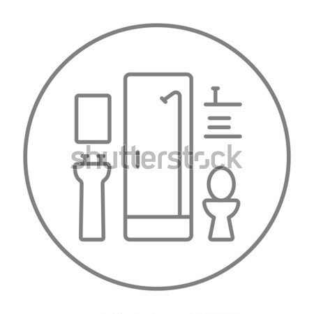 Bathroom line icon. Stock photo © RAStudio