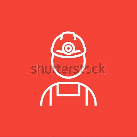 Coal miner line icon. Stock photo © RAStudio