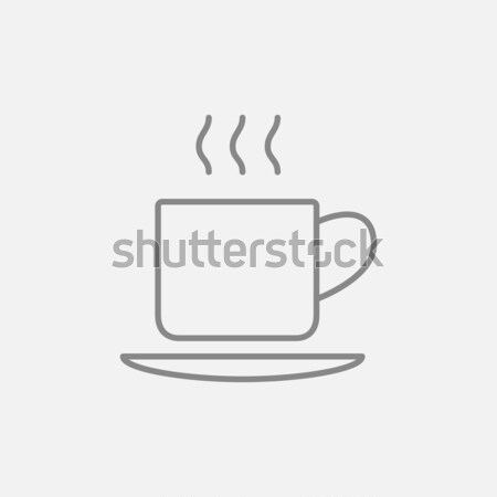 Cup of hot drink line icon. Stock photo © RAStudio