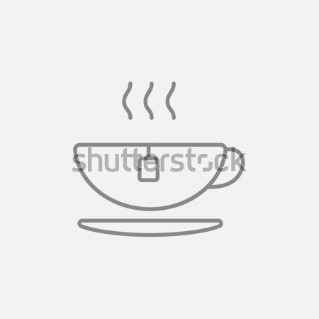 Hot lijn icon hoeken web Stockfoto © RAStudio