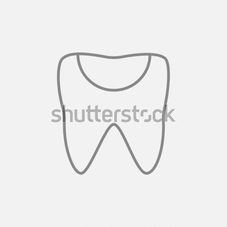 Tooth decay line icon. Stock photo © RAStudio